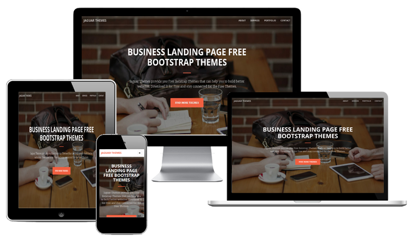free business landing template