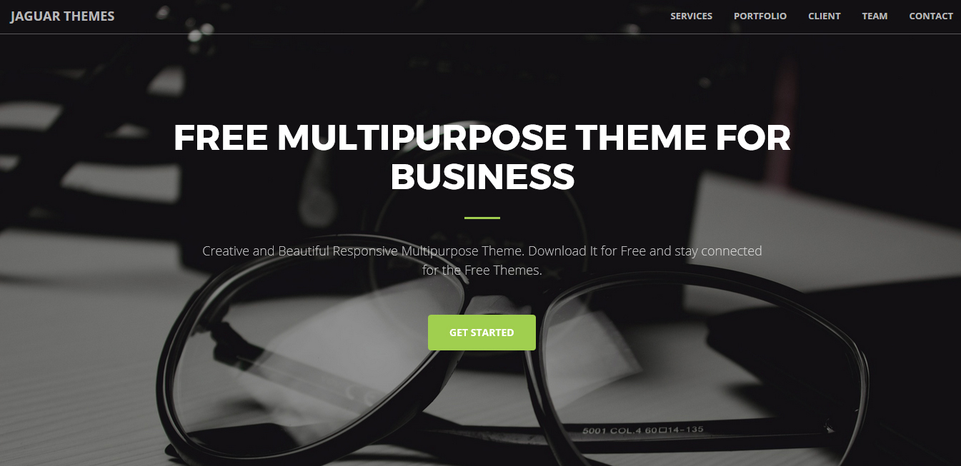 Free Responsive business landing page