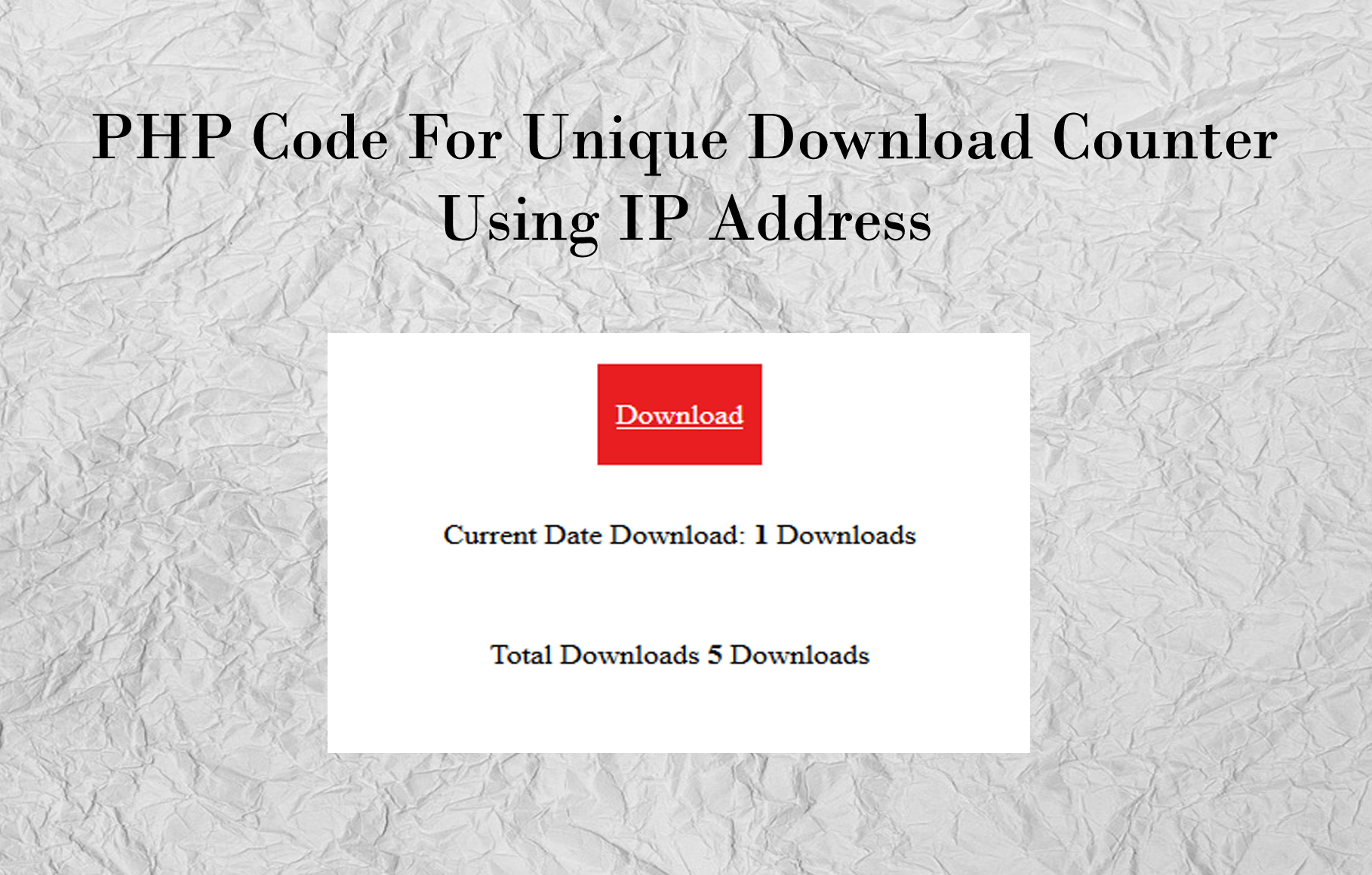 PHP code for Download Counter